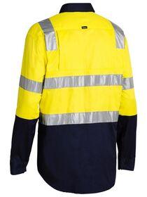 BISLEY HiVis Lightweight Shirt with Shoulder Tape