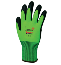 Bastion Hi-Vis Green Cut 5 Gloves