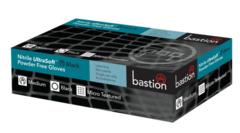 Bastion Nitrile Ultra Soft Black Powder Free Gloves, Box/100