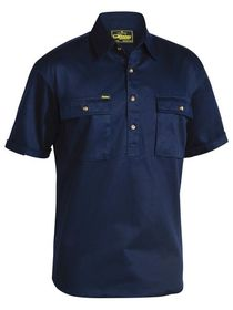 Bisley Closed Front Cotton Drill S/S Shirt