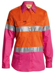 Bisley Womens 3M Taped Hi Vis Cool Lightweight Shirt