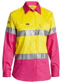 Bisley Womens 3M Taped Hi Vis Cool Lightweight Shirt
