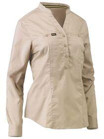 Bisley Womens Stretch V neck Closed Front Shirt
