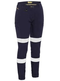 Bisley Womens Taped Cargo Cuffed Pants
