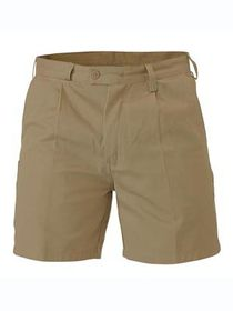 A single beige Bisley Work Shorts