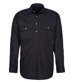 A black Pilbara Work Shirt