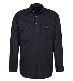 A black Pilbara Work Shirt