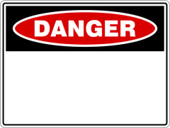 Blank Danger Sign