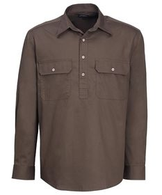 A brown Pilbara Work Shirt