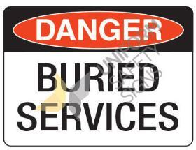 Buried Services Sign