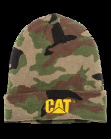 CAT Trademark Cuff Beanie Camo