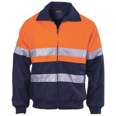 DNC HiVis Bluey Bomber Jacket with R/Tape