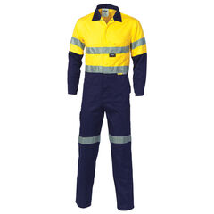 DNC HiVis Cotton Coverall with R/Tape