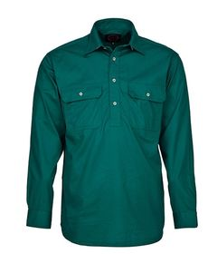 A dark green Pilbara Work Shirt