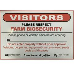 Farm Biosecurity Sign Aluminum