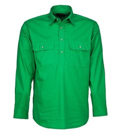 A green Pilbara Work Shirt