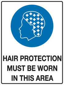 Hair Protection Sign
