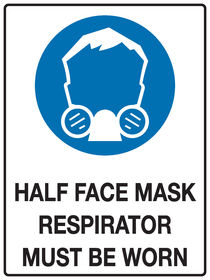 Half Face Mask Sign