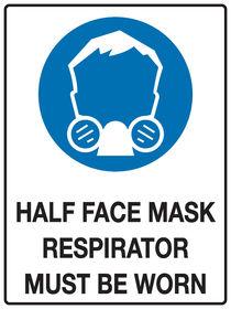Half Face Mask Sign