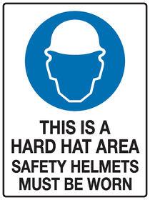 Hard Hat Safety Sign