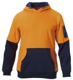 Hard Yakka Hi-Visibility Two Tone Fleece Hoodie