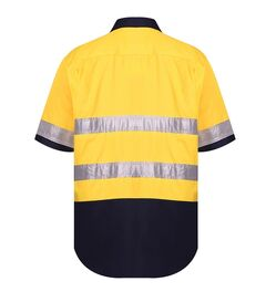 HiVis Vented Open Front LW SS Ref Shirt