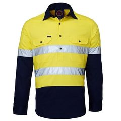Hi-Vis Closed Front Reflective LS Shirt