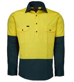 Hi Vis Closed Front LS Shirt