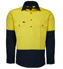 Hi-Vis Closed Front LS Shirt