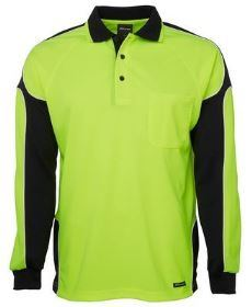 Hi Vis L/S Arm Panel Polo
