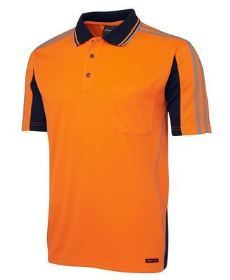 Hi-Vis SS Arm Tape Polo