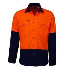 Hi Vis Vented Open Front LS Shirt