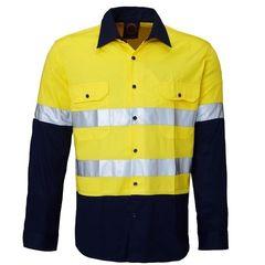 Hi-Vis Vented Open Front LW LS Ref. Shirt