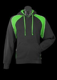 A blue Huxley Hoodie with green