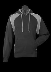 A dark Huxley Hoodie with grey