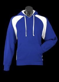 A blue Huxley Hoodie with white