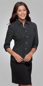 Ladies 3/4 Sleeve City Stretch Spot Shirt