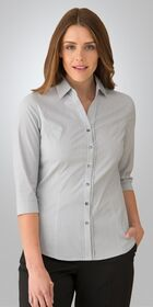 Ladies 34 Sleeve Pinfeather Shirt