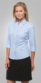 Ladies 34 Sleeve Shadow Stripe Shirt