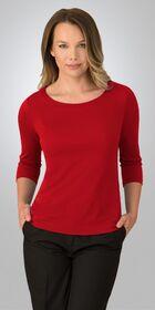 Ladies 3/4 Sleeve Smart Knit Top
