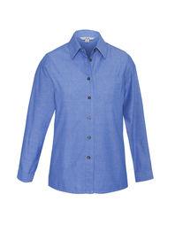 Ladies Chambray Long Sleeve Shirt