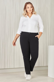 Ladies Comfort Waist Straight Leg Pant