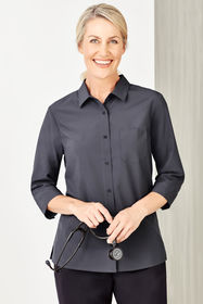 Ladies Easy Stretch 3/4 Sleeve Shirt