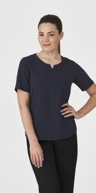 Ladies Knit Woven Top