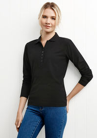 Ladies L/S Crew Polo