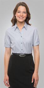Ladies Short Sleeve Shadow Stripe Shirt