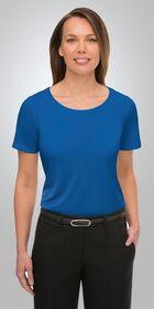 Ladies Short Sleeve Smart Knit Top
