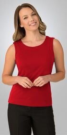 Ladies Sleeveless Smart Knit Top