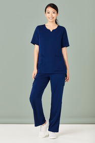 Ladies Tailored Fit Round Neck Scrub Top