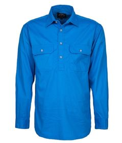 A light blue Pilbara Work Shirt